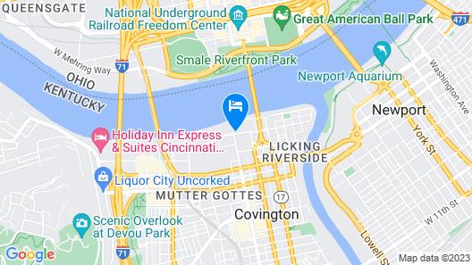 Embassy Suites by Hilton Cincinnati RiverCenter Map