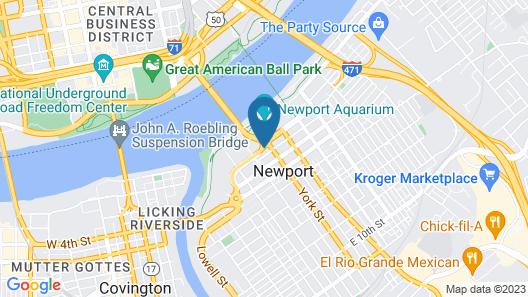 Hampton Inn & Suites Newport/Cincinnati Map