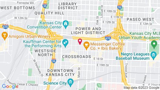 Hampton Inn & Suites Kansas City Downtown Crossroads Map