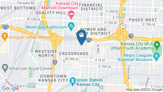Hampton Inn & Suites Kansas City Downtown Crossroads Map