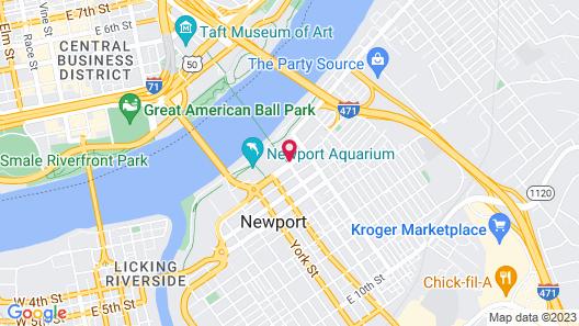 Aloft Newport On The Levee Map