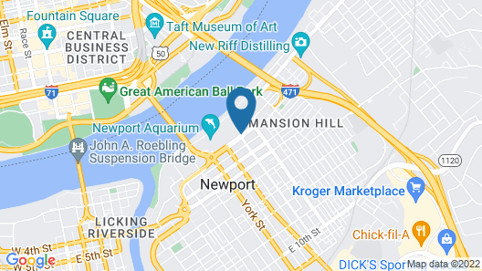 Aloft Newport On The Levee Map