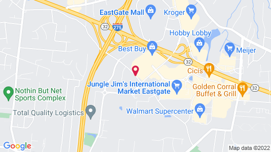 Comfort Inn & Suites Eastgate Map