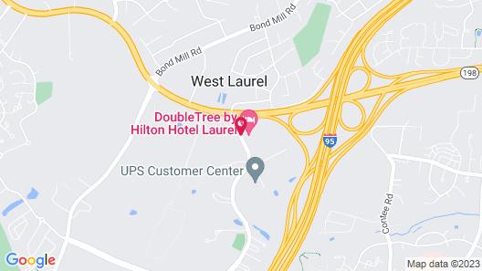DoubleTree by Hilton Hotel Laurel Map