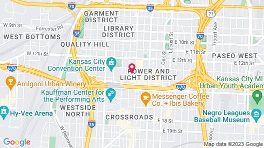 Hilton President Kansas City Map