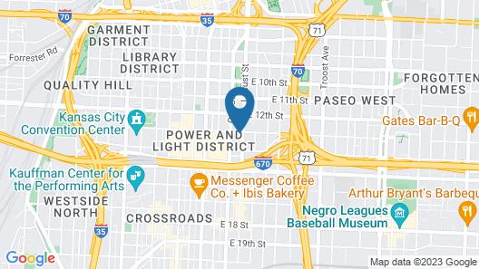 Holiday Inn Express Kansas City Downtown, an IHG Hotel Map