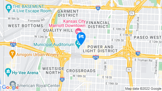 Crowne Plaza Kansas City Downtown, an IHG Hotel Map