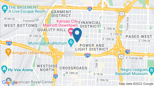 Hotel Kansas City, in The Unbound Collection by Hyatt Map