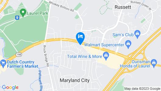 Motel 6 Laurel, DC - Washington Northeast Map