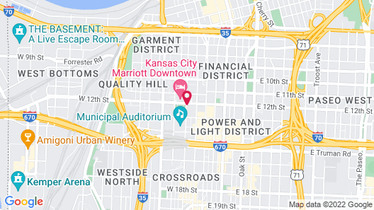 Holiday Inn Kansas City Downtown - Aladdin Map