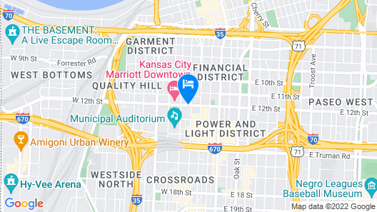 Hotel Phillips Kansas City Curio Collection by Hilton Map