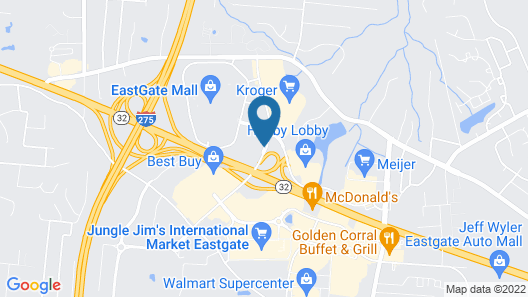 Holiday Inn Hotel & Suites Cincinnati - Eastgate, an IHG Hotel Map