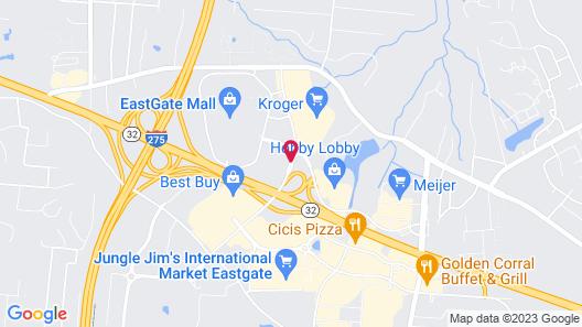 Holiday Inn Hotel & Suites Cincinnati - Eastgate Map