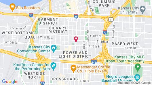 Ambassador Hotel Kansas City, Autograph Collection Map