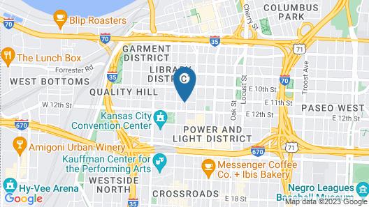 Hotel Indigo Kansas City Downtown, an IHG Hotel Map