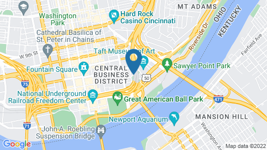 Residence Inn by Marriott Cincinnati Downtown/The Phelps Map