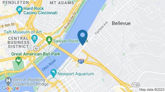 Comfort Suites Newport - Cincinnati Riverfront Map