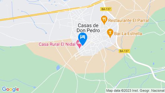 Casa Rural El Nidal Map