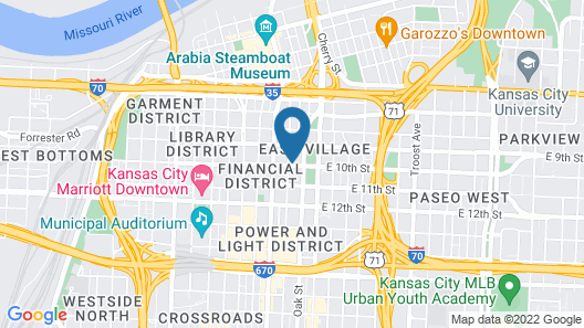 Prem. 1 Bdrm. Pool/garage 3 Blks to Sprint Center Map