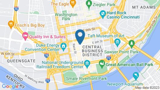 The Cincinnatian Hotel Curio Collection by Hilton Map