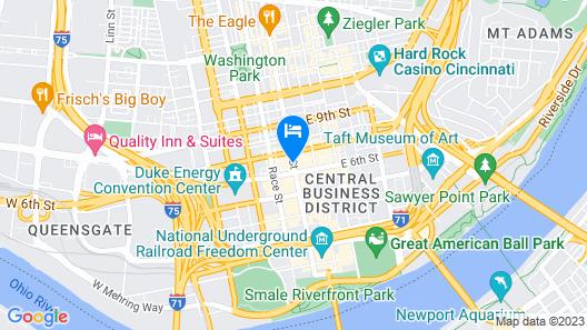 Hampton Inn & Suites Cincinnati-Downtown Map