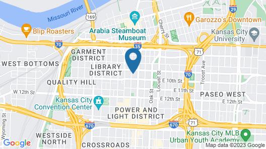 Steps to Shops, Eats, Convention Center Gym + W&D Zencity Map