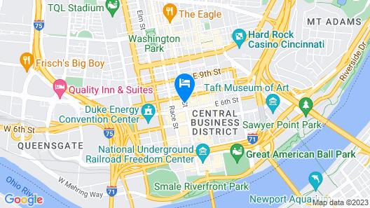 Homewood Suites by Hilton Cincinnati-Downtown Map