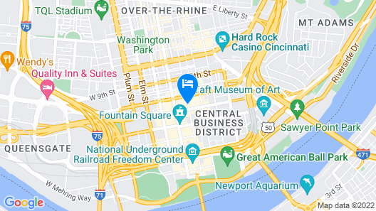 21c Museum Hotel Cincinnati Map