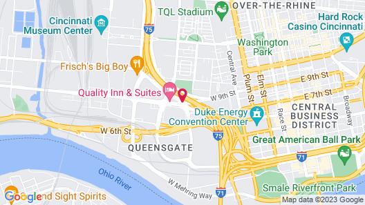 Quality Inn & Suites Cincinnati Downtown Map