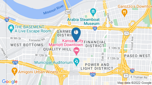 21c Museum Hotel Kansas City Map