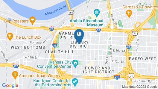 21c Museum Hotel Kansas City - MGallery Map