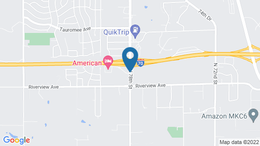 Quality Inn I-70 Near Kansas Speedway Map