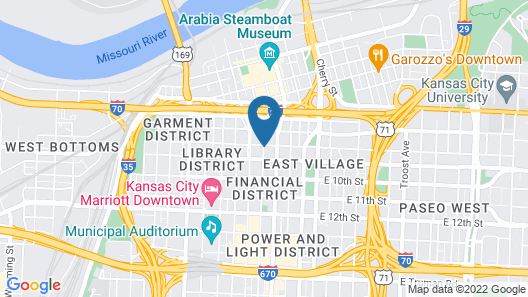 Hampton Inn Kansas City / Downtown Financial District Map