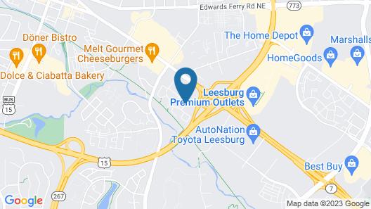Comfort Suites Leesburg Map
