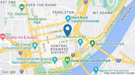 Holiday Inn Hotel & Suites Cincinnati Downtown Map