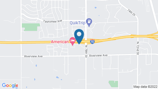 American Motel Kansas City, Kansas Map