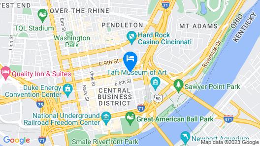 Holiday Inn Hotel & Suites Cincinnati Downtown, an IHG Hotel Map
