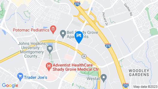 Courtyard by Marriott Rockville Map