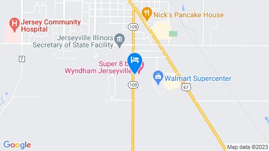 Super 8 by Wyndham Jerseyville Map