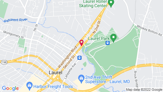 Quality Inn & Suites Laurel Map