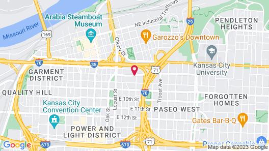 Comfort Inn & Suites Kansas City Downtown Map
