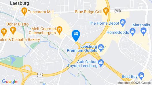 Best Western Leesburg Hotel & Conference Center Map