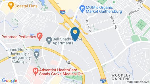 Sleep Inn Shady Grove Map