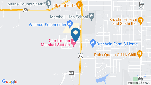 Super 8 by Wyndham Marshall Map
