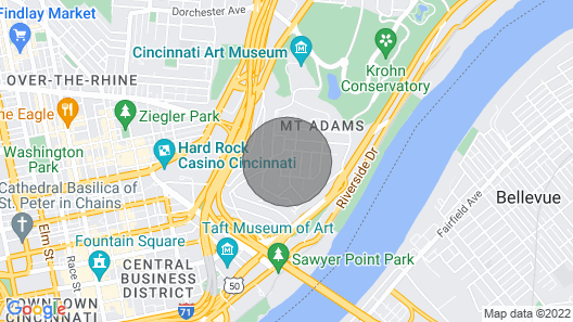 Historic Condo in the Heart of Mount Adams Map