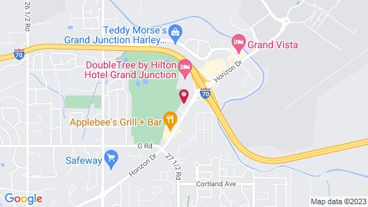 Quality Inn Grand Junction near University Map