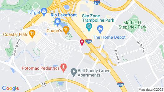 Residence Inn by Marriott Gaithersburg Washingtonian Center Map