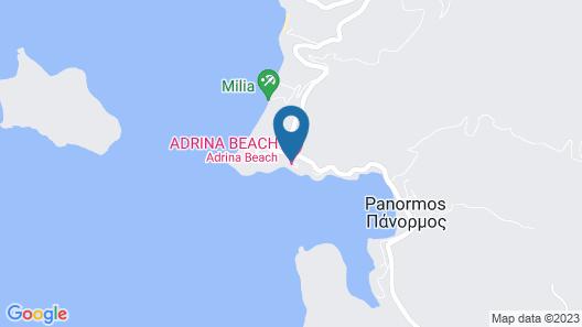 Adrina Beach Hotel Map