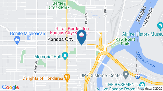 Hilton Garden Inn Kansas City Map