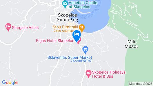Rigas Hotel Skopelos Map